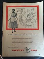 "Vintage Print Ad, Carling's Black label , "" MABEL BLACK LABEL""-1956"