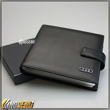 deluxe AUDI Leather CD Case Car DVD Holder Disc Album Disk Storage Carry Box