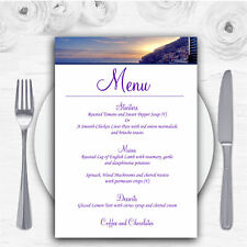 Amalfi Coast Italy Heart Personalised Wedding Menu Cards