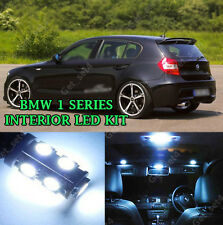 BMW 1 SERIES E82 E87 COMPLETE PURE WHITE INTERIOR LED LIGHT UPGRADE KIT