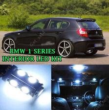 BMW SERIE 1 E82 E87 COMPLETO INTERNI BIANCO PURO luce a LED UPGRADE KIT