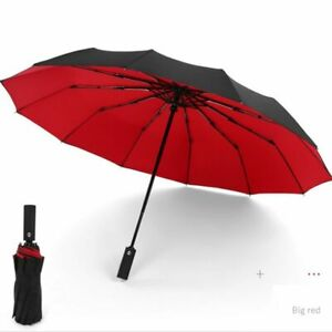 New Enlarged Business Umbrellas Rain Women Man Full-Automatic Men Three Folding
