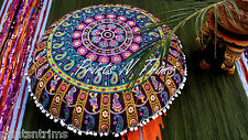 Decorative Round Mandala Cotton Floor Cushion Cover Indian Boho Tapestry Pillow
