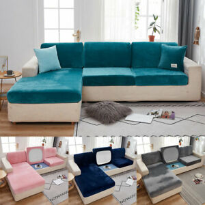 Replacement Sofa Seat Cushion Covers Couch Slip Covers Velvet Stretchy Protector