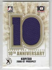 2013-14 ITG HEROES PROSPECTS ANZE KOPITAR 1/1 JERSEY SPRING EXPO 10th GAME USED