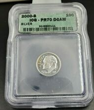 2000 S Silver Roosevelt Dime Coin PR70 DCam Deep Cameo ICG Gem Proof Nice Coin