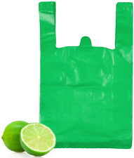 T Shirt Bags Green Plastic Bags With Handles Bulk Bolsas De Plastico Para Bags