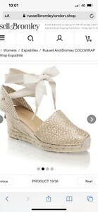 Russell And Bromley Coco Wrap Wedges Size 7
