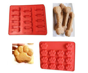 Dog Paw Dog Bone Mould Silicone Cake Chocolate Biscuit Ice Cube Decorate Mold