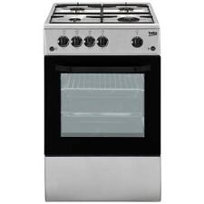 BEKO Cucina a Gas CSG42011FS 4 Fuochi Forno a Gas Dimensioni 85x50 cm Colore Sil