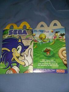 Mcdonalds Happy Meal Box SEGA SONIC THE HEDGEHOG RARE