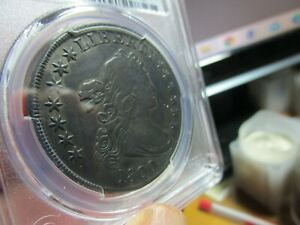TOUGH TO FIND 1800 AMERICA $1.00 DRAPED BUST DOLLAR  PCGS  VF DETAILS