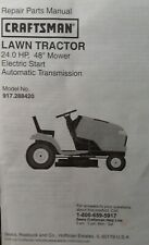 """Sears Craftsman 24.0 h.p 48"""" Lawn Mower Tractor MTS5500 Parts Manual 917.288420"""