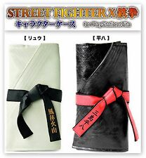 Street Fighter X Tekken PSV Case Ryu Heihachi SET White Black Pouch PS VITA JPN