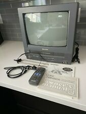 """Sharp 13"""" TV/VCR Combo 13VT-N100 Vintage Gaming CRT TV - w/ Remote and Manuals"""