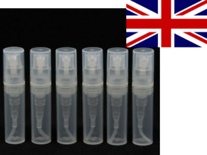 2ml Plastic Pump Atomiser for Liquid Sample or Spray Perfume - UK STOCK