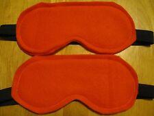 2 Masks Sleep Eye Travel Blindfold Dark New Aid Shade Fleece orange