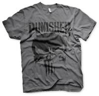 Officially Licensed Marvel Punisher Men's Grey T-Shirt