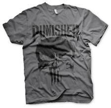 Officially Licensed Marvel Punisher Men's Grey T-Shirt