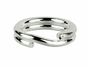 10 x Solid Sterling Silver 925 6mm Split Ring Easy Fit Open Ring 6mm Crafts
