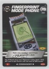 2007 007 Spy Cards: Commander #247 Fingerprint Mode Phone Gaming Card 1i3