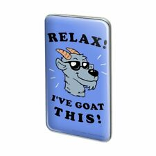 Relax I've Goat This Got Funny Humor Rectangle Lapel Hat Pin Tie Tack Pinback