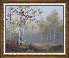 Mitsuzo Shimizu Original Oil Painting On Canvas Landscape Forest Signed Artwork