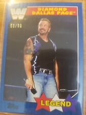 2017 Topps WWE Heritage #74 Diamond Dallas Page BLUE #d 58/99 NrMint-Mint