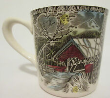 Johnson Brothers The Friendly Village Covered Bridge Made England Coffee Cup Mug