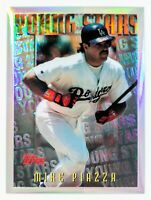 Mike Piazza #M12 Refractor (1996 Topps Mystery Finest) Young Stars, LA Dodgers