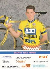 CYCLISME carte cycliste JEAN PIERRE DELPHIS équipe AKI GIPIEMME