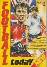 Football Today Magazine - Vol 1, Mar 1987- Elton John, Steve Cram,Jimmy Greaves