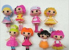 """Mini Lalaloopsy Doll Button Eyes (8 pc Set) 3"""" Tall Playhouse Cake Toppers"""