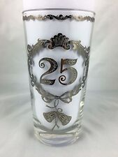 Vintage - 25th (Silver) Anniversary Glass - Tumbler (Real Silver)