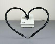 Microscopio SCHOTT fuente de luz KL 200 con doble cuello de cisne guía para Leica Nikon