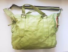CROMIA Ladies Genuine Leather Lime Green shoulder bag handbag