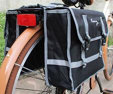 Borse laterali a bisaccia Colore Nero doppia chiusura borsa per city bike bici