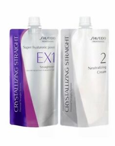 Shiseido Professional Crystallizing Straight EX1 + Neutraliser Cream 400G