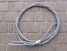 Drahtseil VERZINKT Stahlseil mit Schlaufe/Öse Sicherungsseil Fangseil 5 Meter