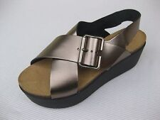 Eric Michael Womens Shoes NEW $110 Lola Sabbia Ramona Bronze Wedge Sandal 40 9