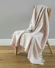 Country Club Modena Design Throw. Checked Soft Bed / Sofa Throw Blanket Pink