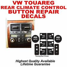 04–09 VW TOUAREG REAR CLIMATE CONTROL BUTTON DECAL STICKER REPAIR