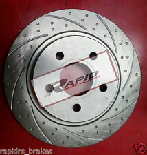 Ford Focus XR5 2.5L Turbo Front Disc Brake Rotors Slotted Grooved with PADS