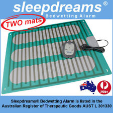 2 MATS GREY Sleepdreams® Bedwetting Mattress Alarm NON-INVASIVE Bed Wetting