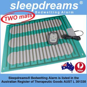 2 MATS GREY Sleepdreams® Bedwetting Mattress Alarm NON-INVASIVE Bed Wetting