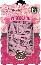 K & Company INNAMORATO COTTO rosa glitter lettere truciolare abbellimenti 566309 N XS