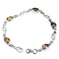gorgeous Citrine 925 Solid Sterling Silver Yellow Bracelet Natural wholesale US