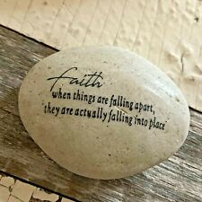 Engraved Rock ~ Faith. When Things Are Falling Apart They Are Actually Falling.