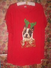 LADIES Top..Plus Size 24...Red with Christmas Motif...Brand: NOW.