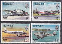 JERSEY MNH UMM STAMP SET 1984 SG 340-343 CIVIL AVIATION ORGANISATION HISTORY II